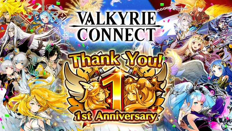 "High-Fantasy RPG Valkyrie Connect Celebrates Its First Anniversary! Players Can Receive 5-Star Hero from Login Bonuses, Special ""Star Party"" Summon, and More!"