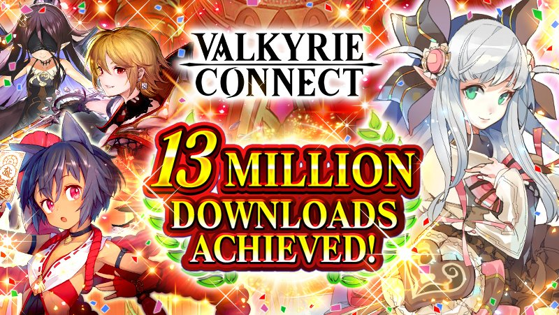 "High Fantasy RPG ""Valkyrie Connect"" Breaks 13 Million"