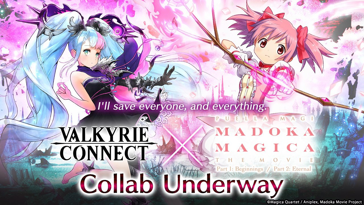 """Collaboration with Popular Japanese Anime Puella Magi Madoka Magica in High Fantasy RPG """"Valkyrie Connect""""! Join Hands with Madoka, Homura, and Others to Fend off the Calamity!"""