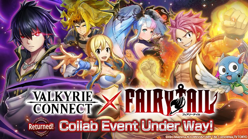 Collaboration Event with Popular Anime Series Fairy Tail Returns to Fantasy RPG Valkyrie Connect Today! Players Can Get Zeref and Natsu for Free!